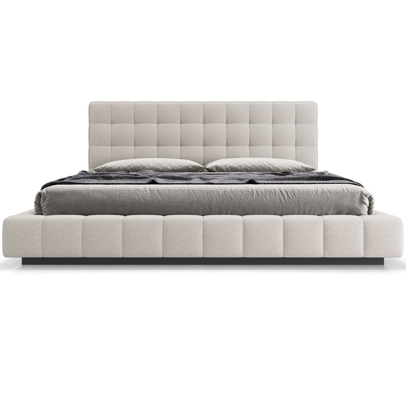 Modloft Thompson King Bed in Luna Fabric/Carbon Gray