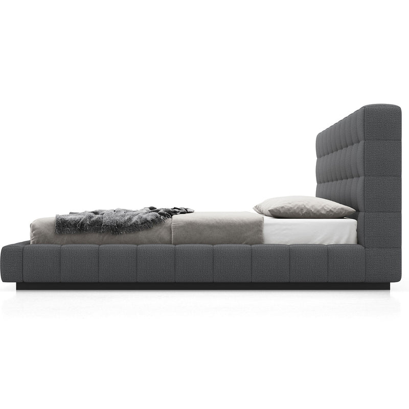 Modloft Thompson Twin Bed in Carbon Gray Fabric/Luna Fabric