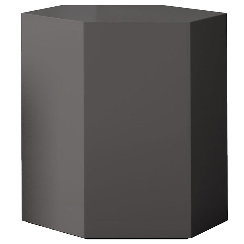 Modloft Centre 18 in. Occasional Table in Glossy Chateau Gray/Dark Gull Gray