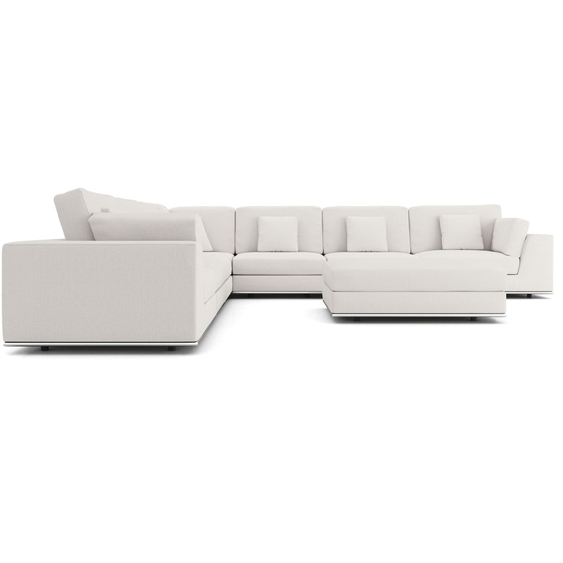 Modloft Perry Sectional Large 2 Arm Corner Sofa w Ottoman