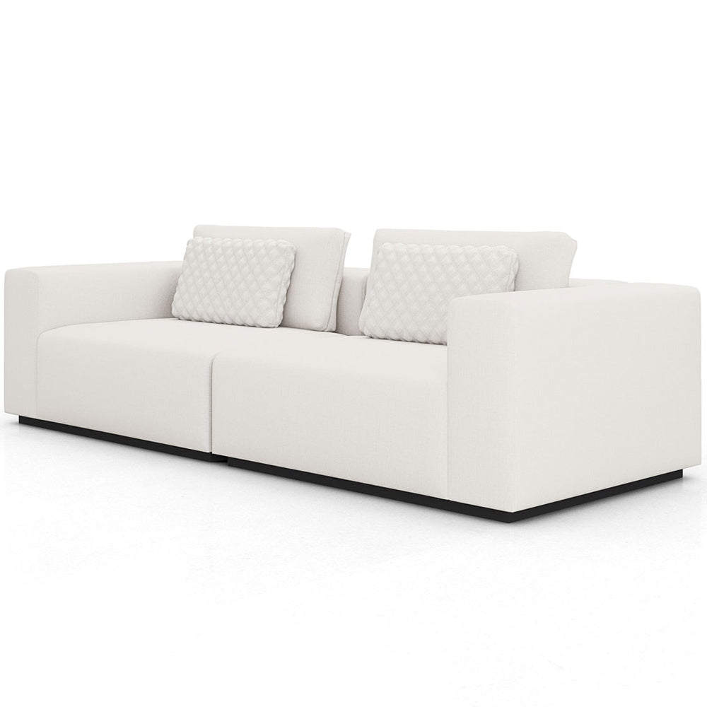 Modloft Spruce Sectional Two Seat Sofa In Chalk Fabric