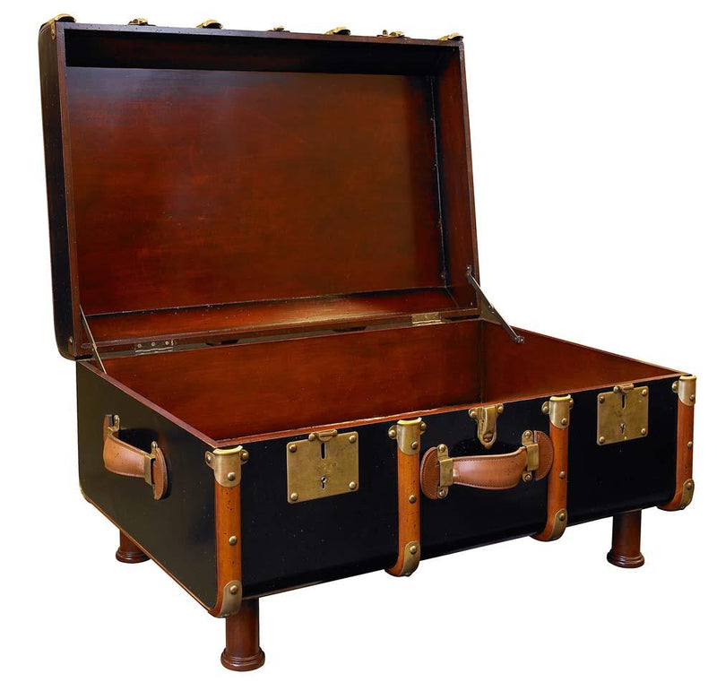 Stateroom Trunk Table - Black By Authentic Models