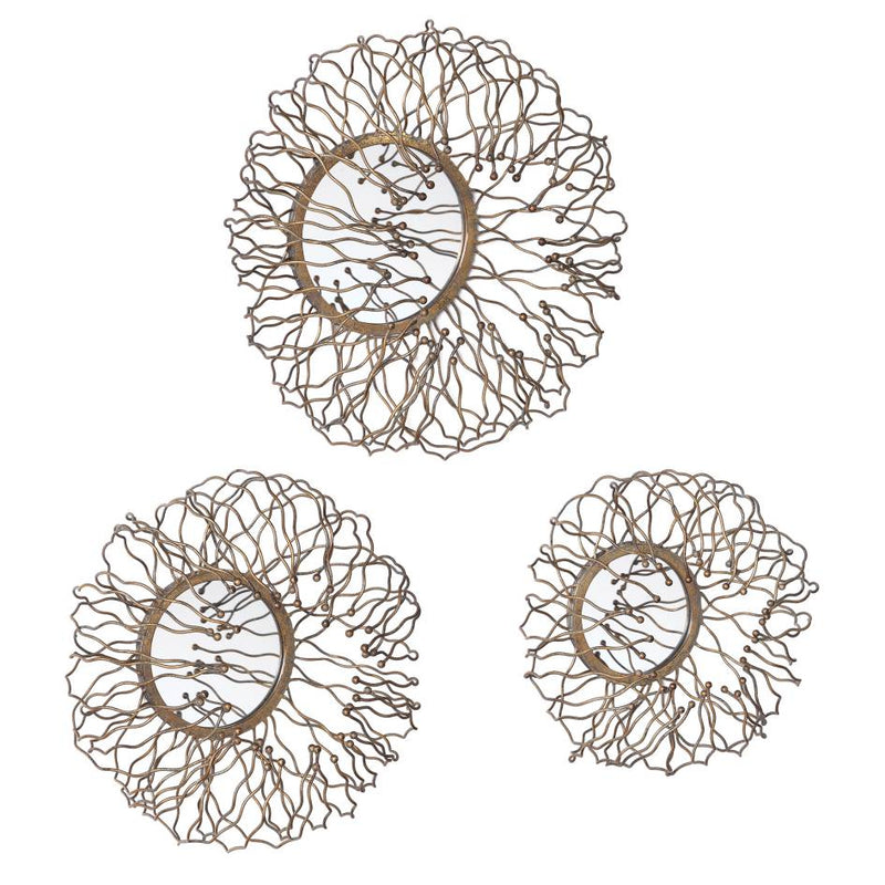 Uttermost Elin Mirrored Wall Decor, Set/3