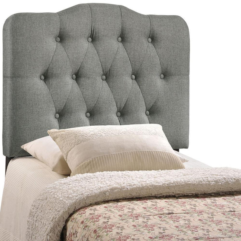 Modway Annabel Twin Upholstered Fabric Headboard - Gray