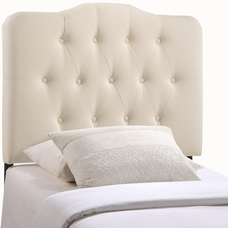 Modway Annabel Twin Upholstered Fabric Headboard - Ivory