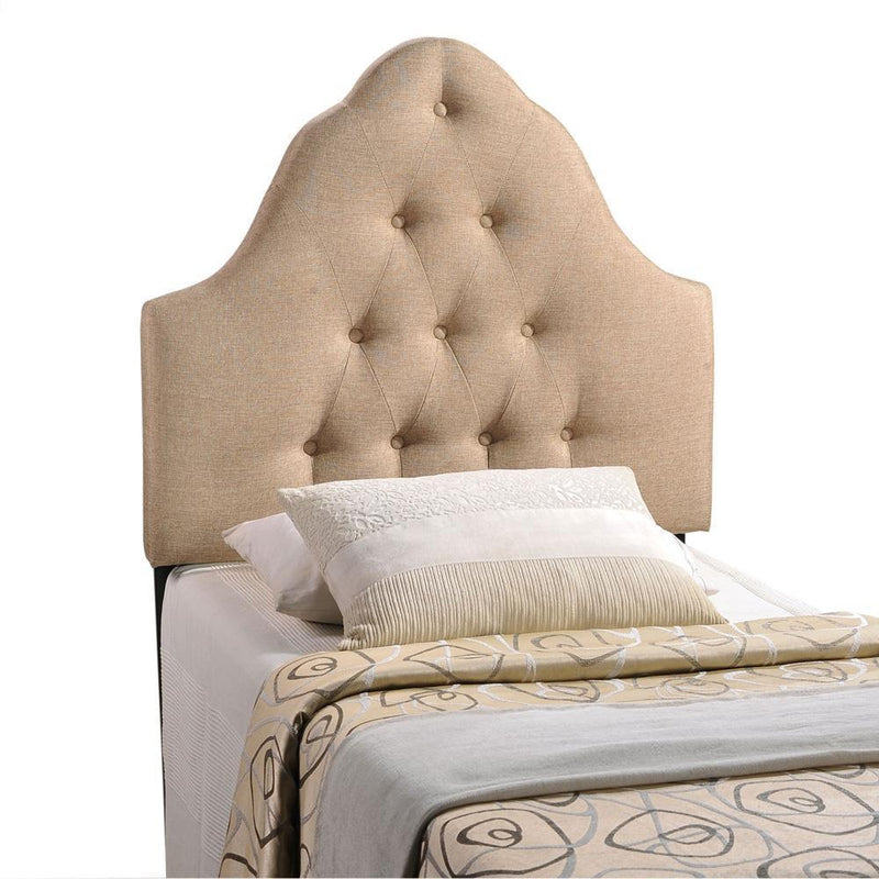 Modway Sovereign Twin Upholstered Fabric Headboard - Beige