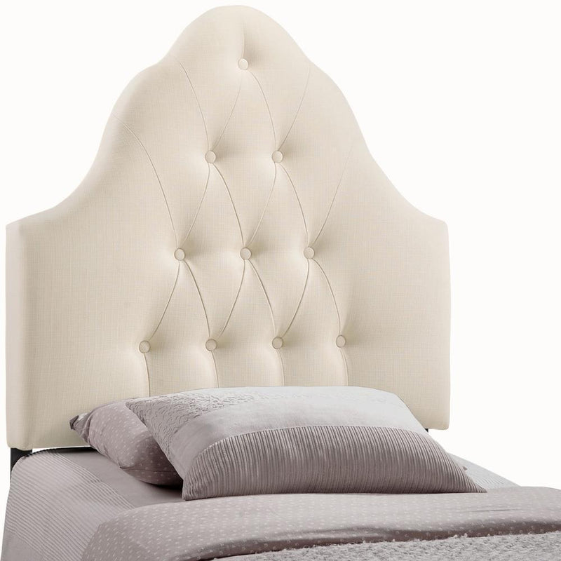 Modway Sovereign Twin Upholstered Fabric Headboard - Ivory