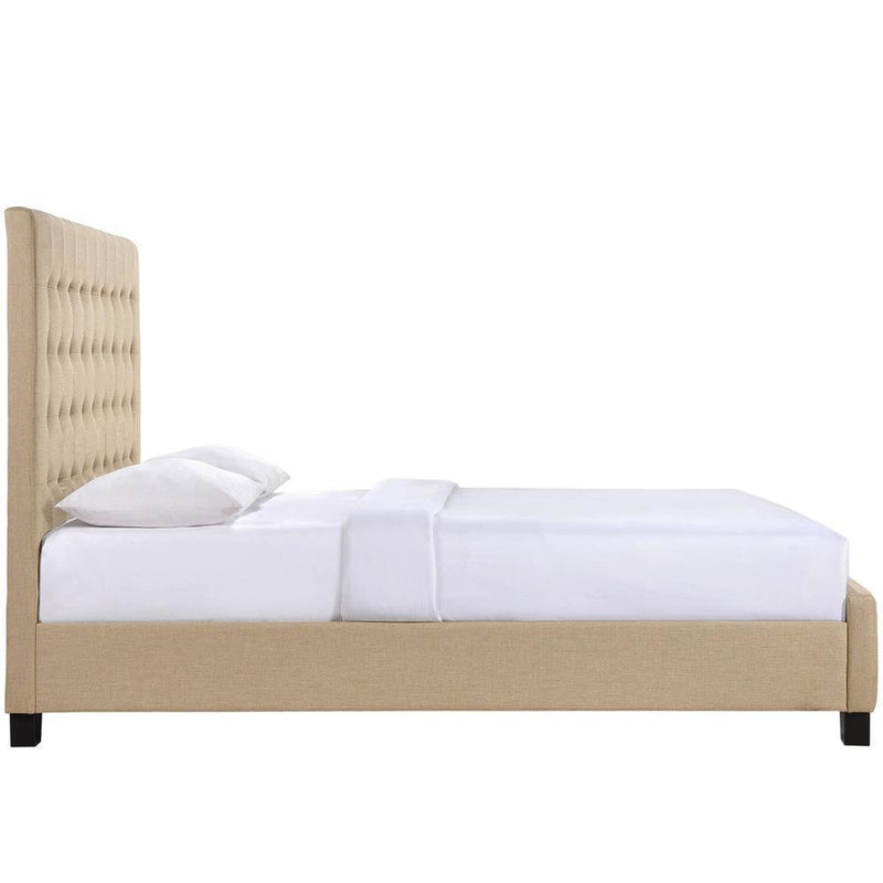 Modway Skye Queen Bed - Cafe