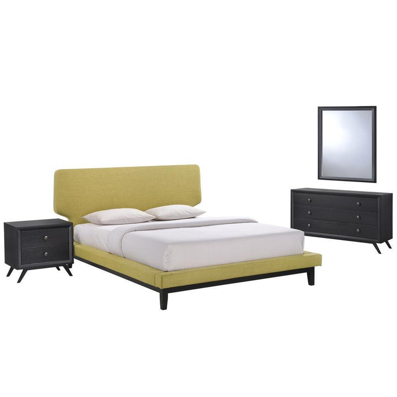 Modway Bethany 4 Piece Queen Bedroom Set