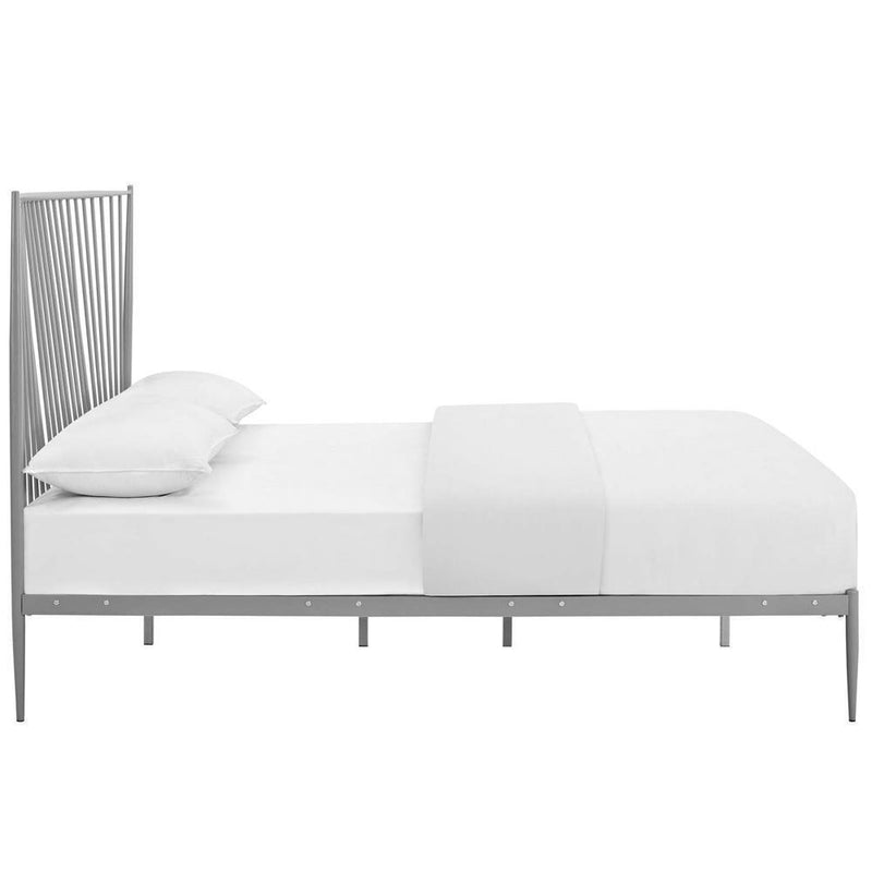 Modway Annika Queen Platform Bed - Gray