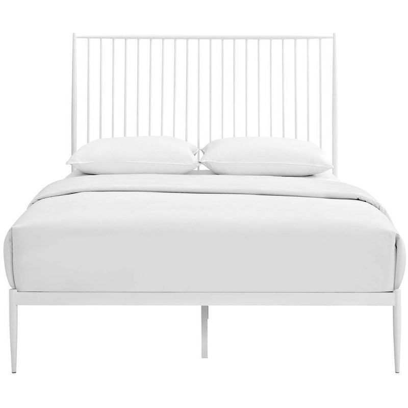 Modway Annika Queen Platform Bed - White