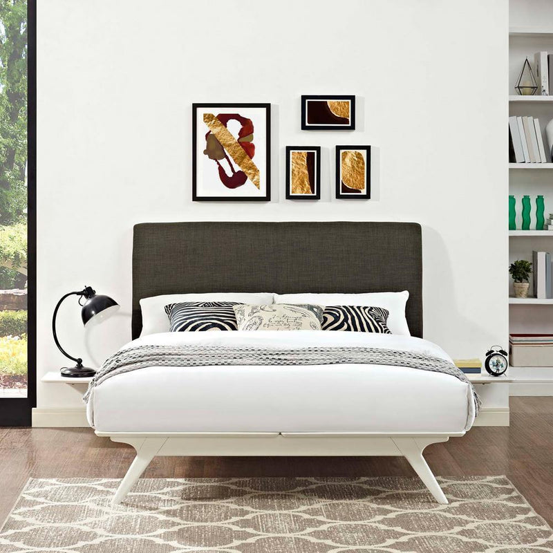 Modway Tracy 3 Piece Full Bedroom Set - White Brown