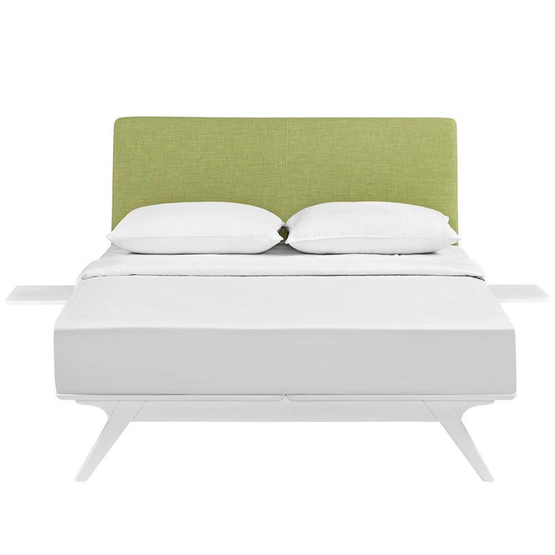 Modway Tracy 3 Piece Full Bedroom Set - White Green