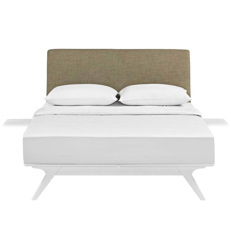 Modway Tracy 3 Piece Full Bedroom Set - White Latte