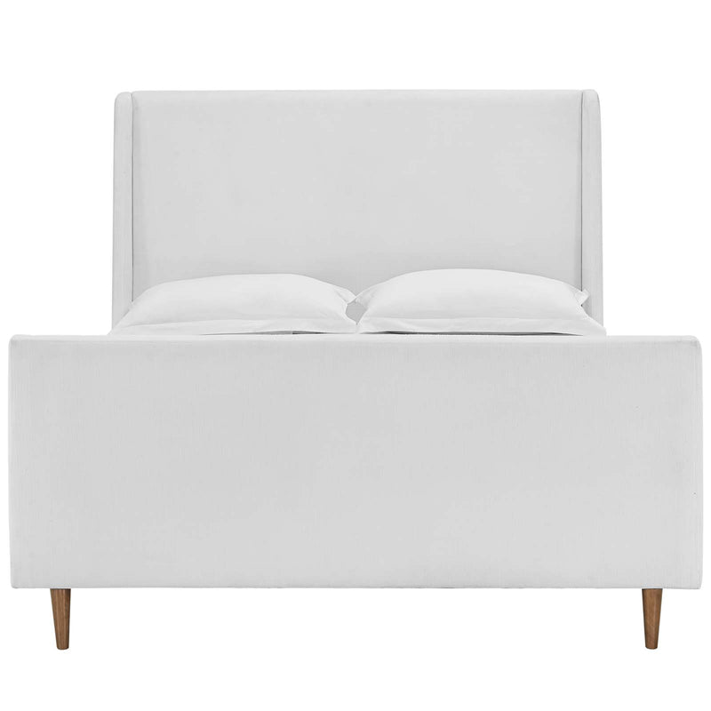 Modway Aubree Queen Upholstered Fabric Sleigh Platform Bed