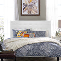 Modway Paisley Tufted Full / Queen Upholstered Faux Leather Headboard