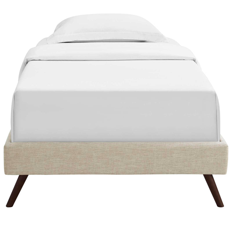 Modway Loryn Twin Fabric Bed Frame with Round Splayed Legs