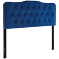 Modway Annabel King Diamond Tufted Performance Velvet Headboard