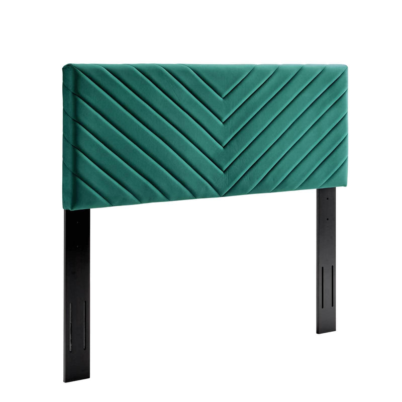 Modway Alyson Angular Channel Tufted Performance Velvet Twin Headboard