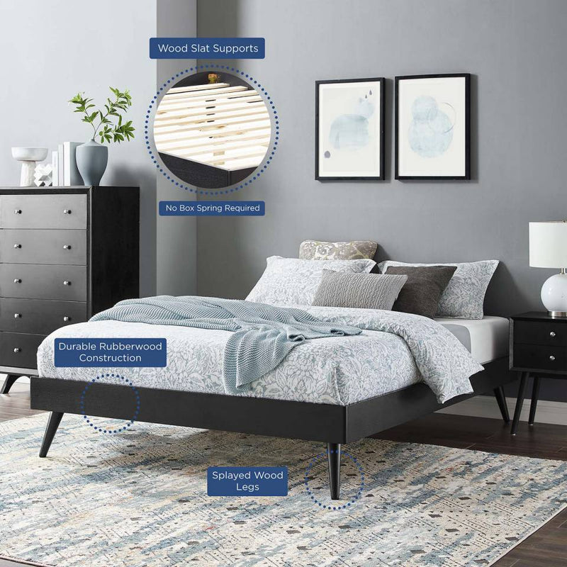 Modway Margo Queen Wood Platform Bed Frame