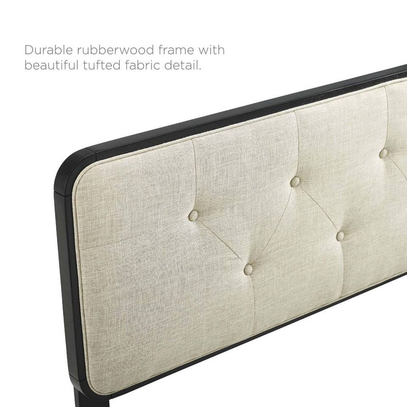 Modway Collins Tufted Full Fabric and Wood Headboard