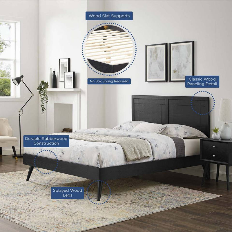 Modway Marlee Full Wood Platform Bed With Splayed Legs