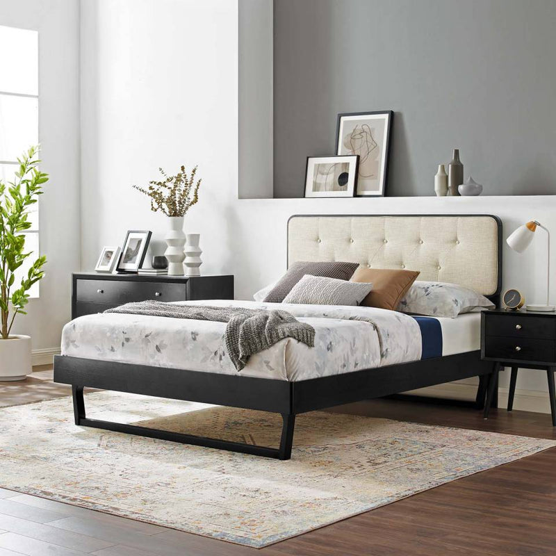 Modway Bridgette Full Wood Platform Bed With Angular Frame