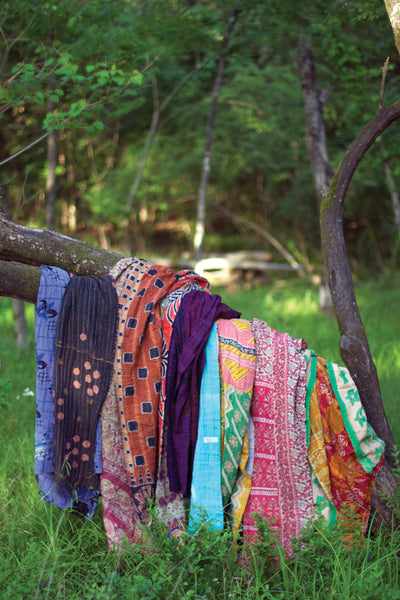 Kalalou Cotton Kantha Throw