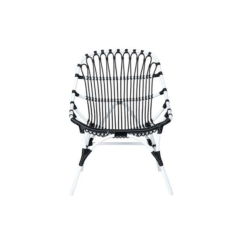St. John outdoor chair (powdercoated frame and synthetic rattan) by Jeffan