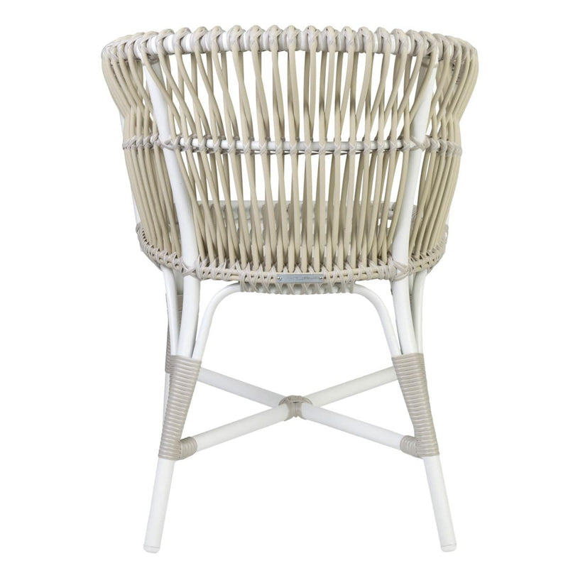 St. Martin Outdoor Round Rattan Synthetic Back Occasional Chair by Jeffan