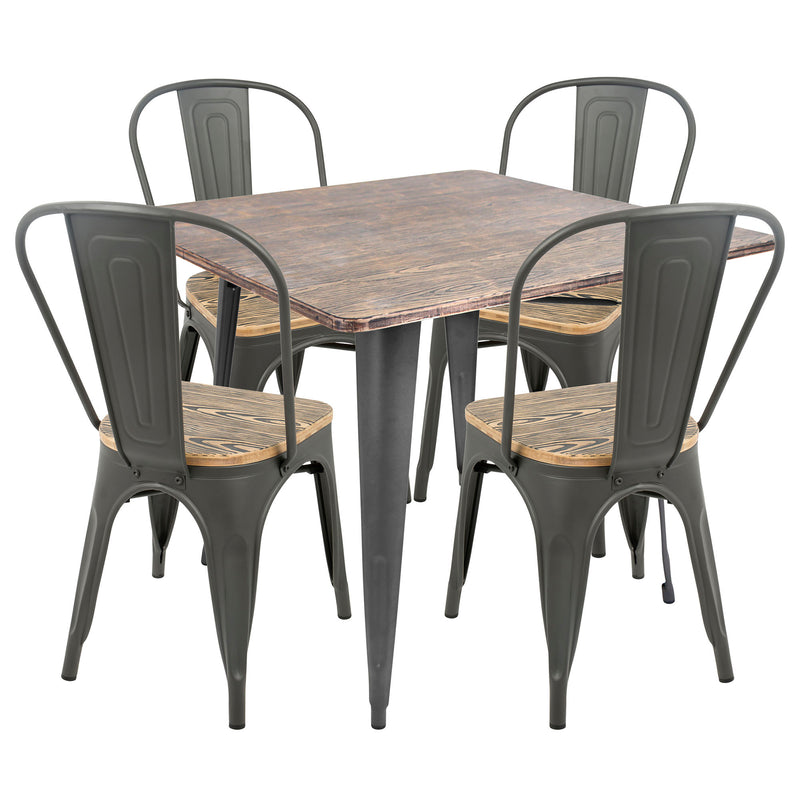 LumiSource Oregon 5 Piece Dining Set