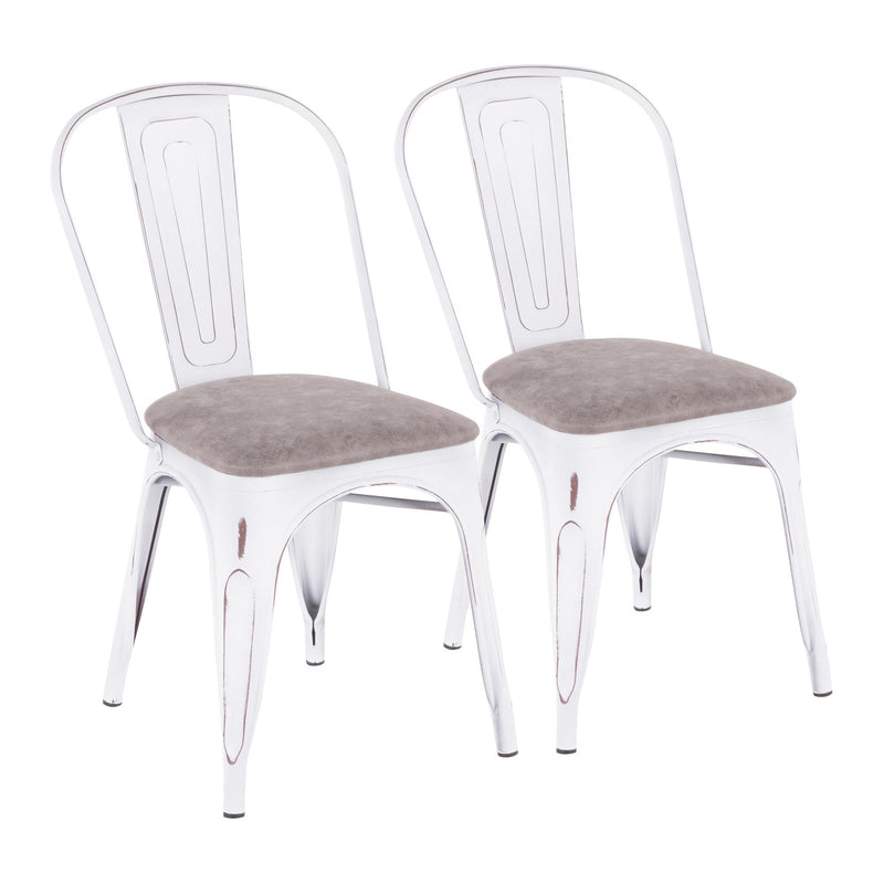LumiSource Oregon Upholstered Chair - Set of 2