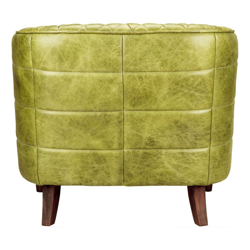 Moe's Home Collection Magdelan Tufted Leather Arm Chair