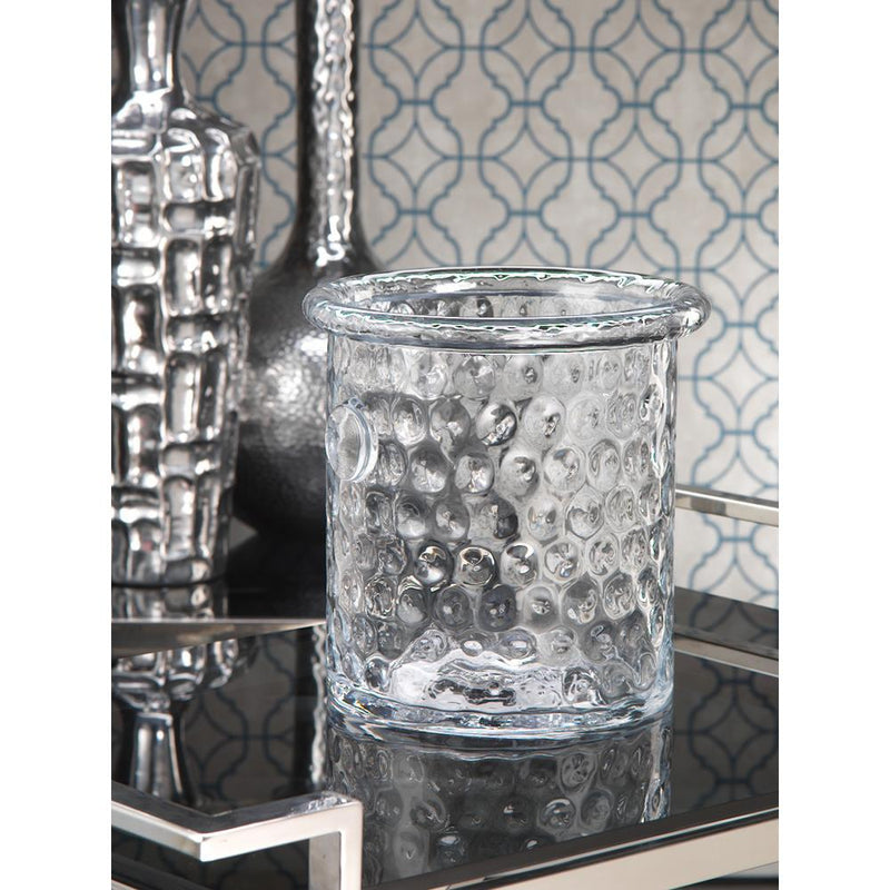 Zodax 9-Inch Tall Bubble Glass Ice Bucket