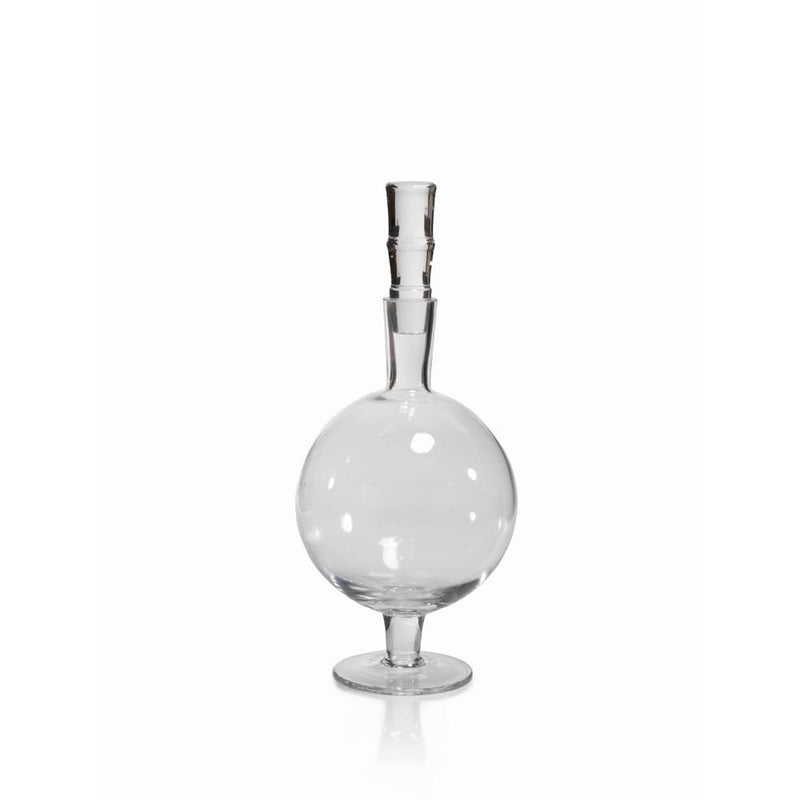 Zodax 13.5-Inch Tall Salerno Glass Decanter