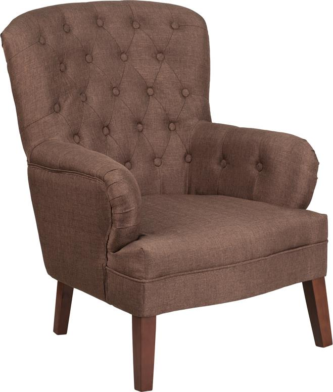 Flash Furniture Hercules Arkley Series Fabric Tufted Arm Chair