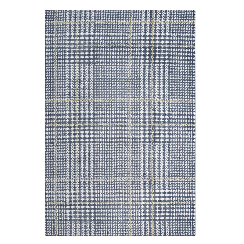 Modway Kaja Abstract Plaid 8x10 Area Rug