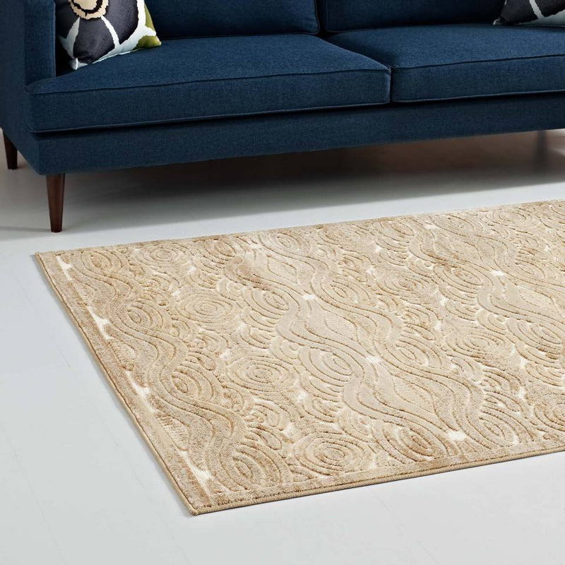 Modway Kennocha Rustic Vintage Abstract Waves 5x8 Area Rug