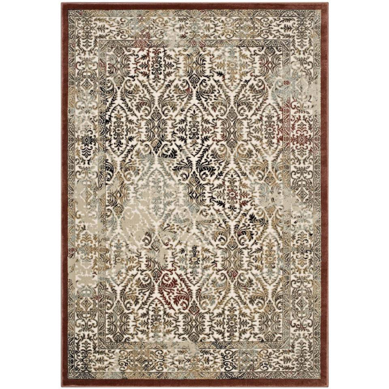 Modway Hester Ornate Turkish 8x10 Vintage Area Rug