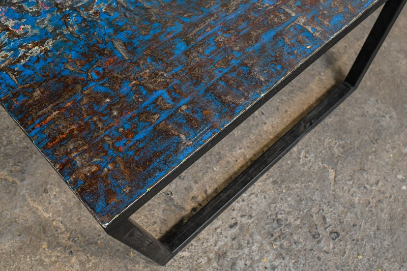 Small Metal Recycled Oil Drum Coffee Table R-1110 by Aire Furniture