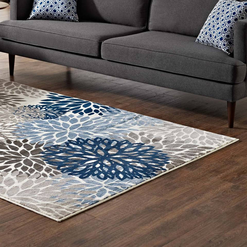 Modway Calithea Vintage Classic Abstract Floral 8x10  Area Rug