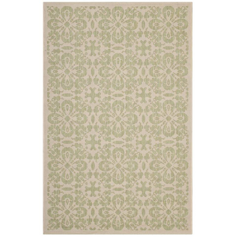 Modway Ariana Vintage Floral Trellis 8x10 Indoor and Outdoor Area Rug