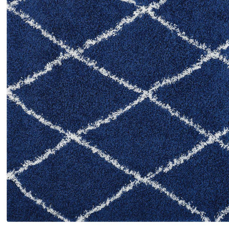 Modway Toryn Diamond Lattice 5x8 Shag Area Rug