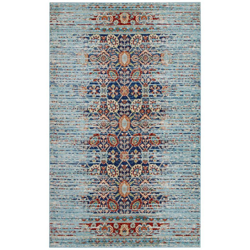 Modway Naria Distressed Persian Medallion 8x10 Area Rug