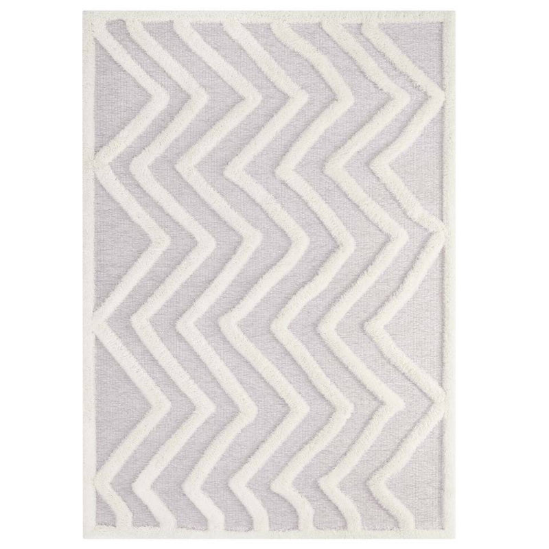 Modway Whimsical Pathway Abstract Chevron 8x10 Shag Area Rug