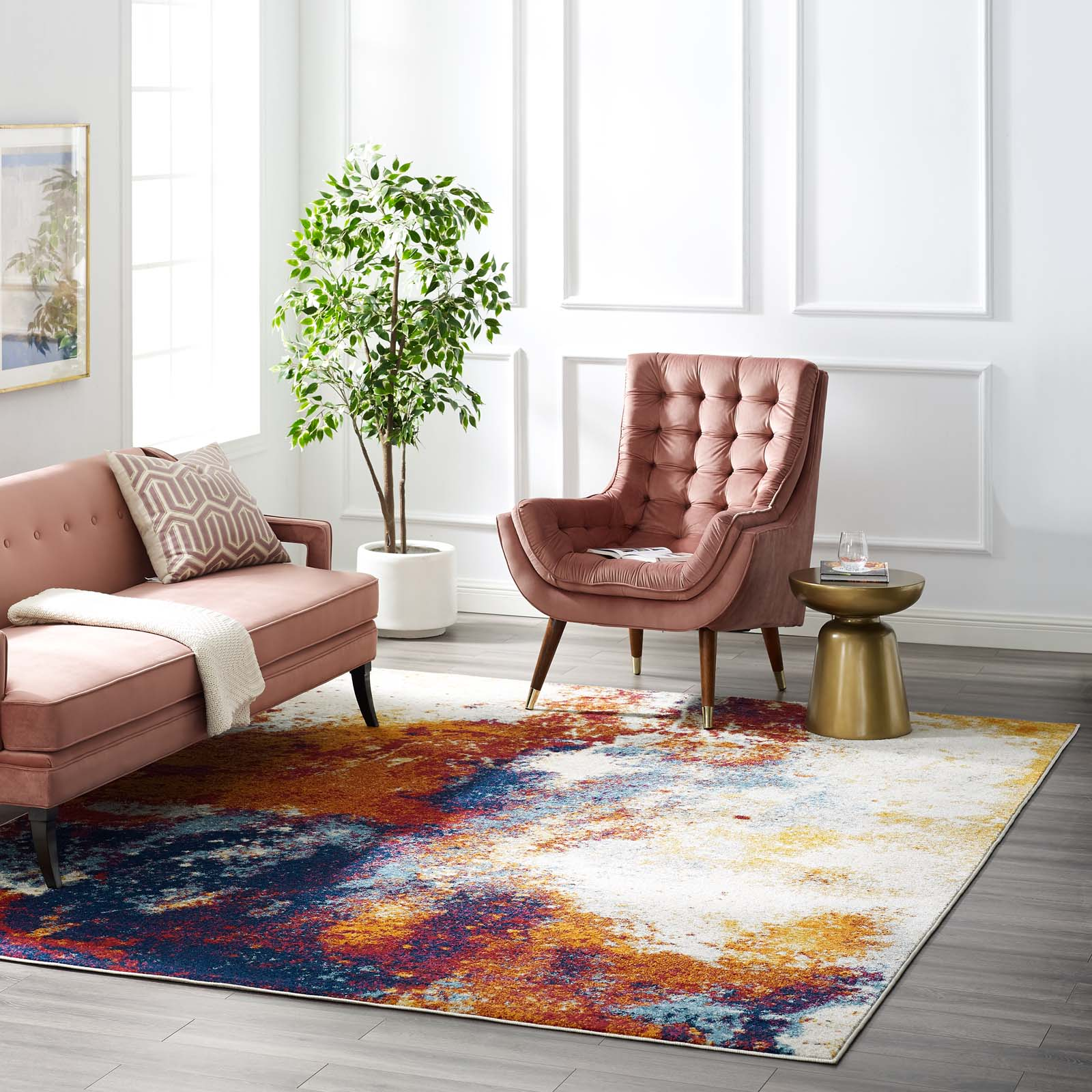 Picture of: Modway Entourage Adeline Contemporary Modern Abstract 8×10 Area Rug Re Modish Store