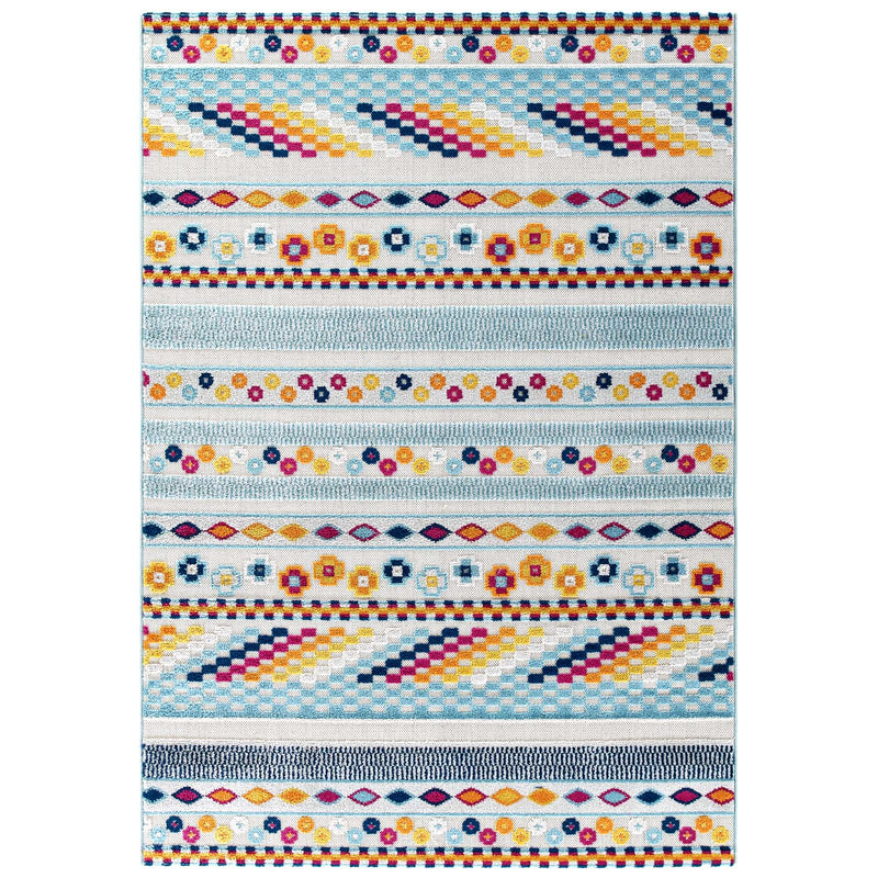 Modway Reflect Cadhla Vintage Abstract Geometric Lattice 8x10 Indoor and Outdoor Area Rug Multicolored
