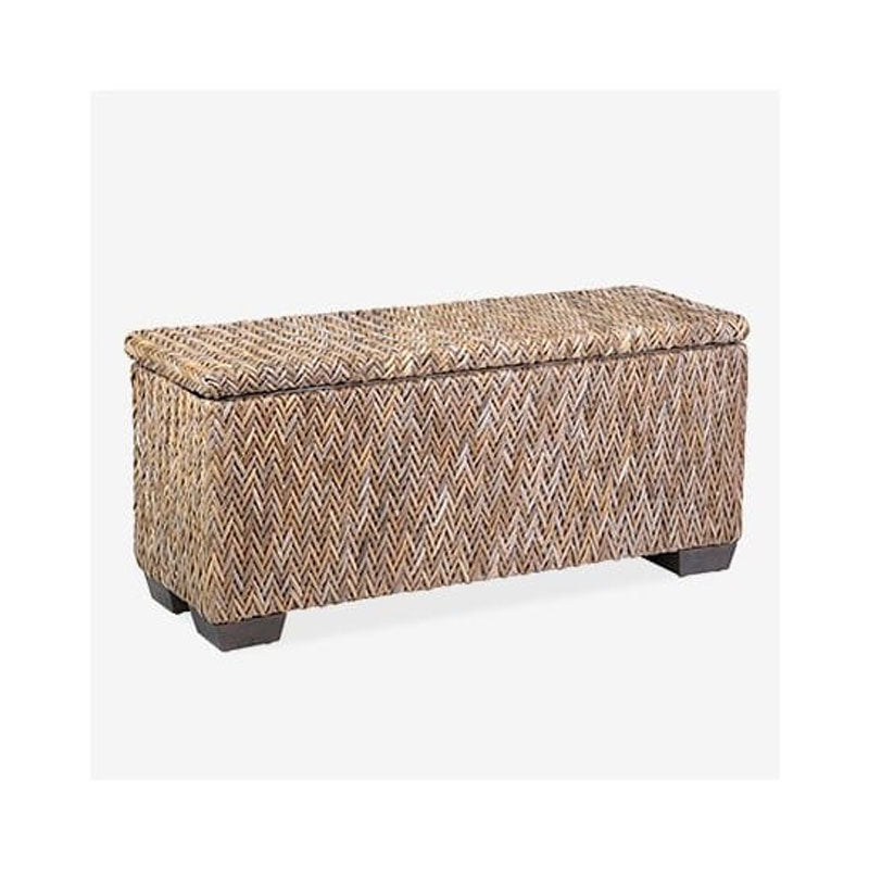 Paisley Rattan Bench With Shoe Storage by Jeffan