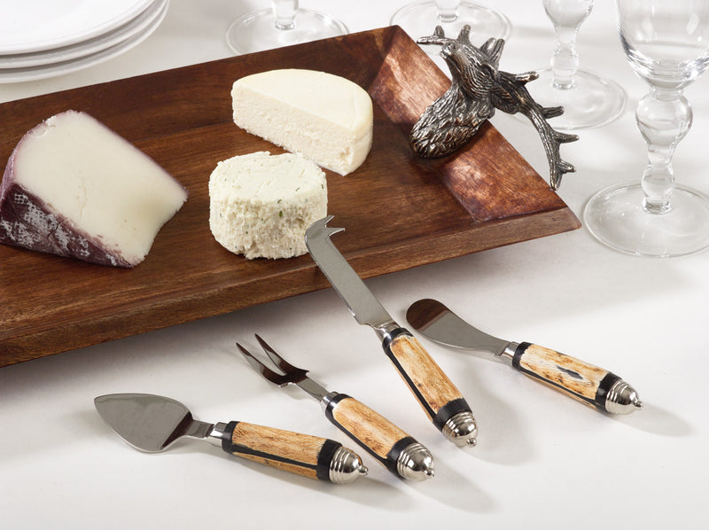 Saro Horn Cheese Cutlery - Set Of 4