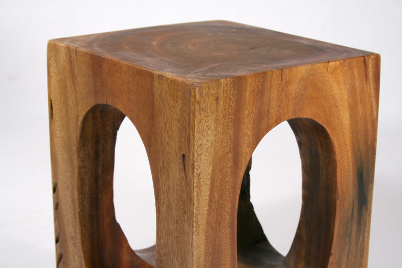 Strata Furniture Windows End Table in Walnut